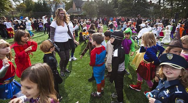 Imagen de una fiesta de Halloween en una escuela infantil en Washington, el 31 de octubre de 2011.