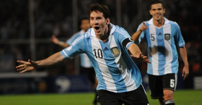 Messi encabeza a la Albiceleste argentina