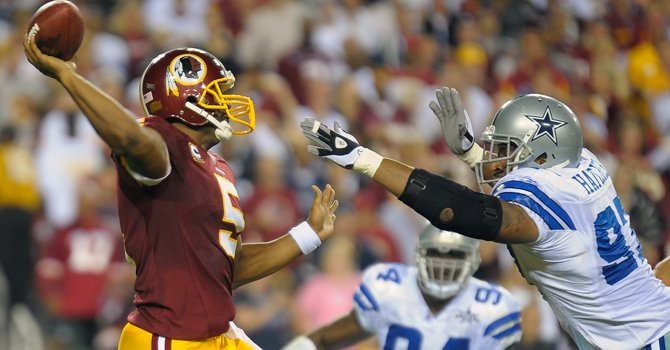 Redskins humillan a los Cowboys en Dallas