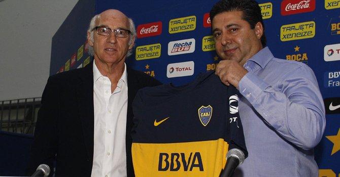 Carlos Bianchi técnico del Boca Juniors