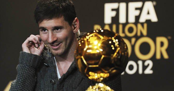 Messi gana su cuarto Balón de Oro consecutivo