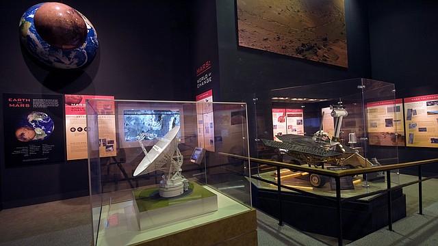 La exhibición Explorando los Planetas hace actualmente un especial énfasis en las investigaciones sobre Marte.