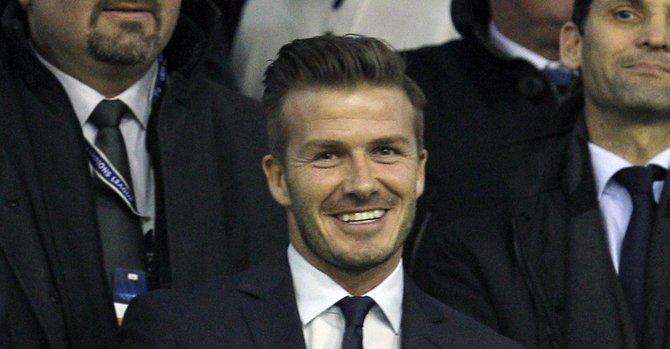 Beckham se roba las cámaras en Mestalla