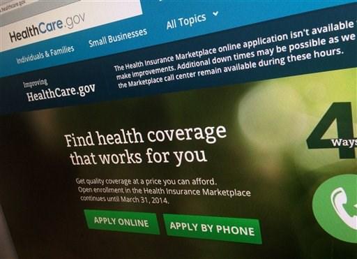 Sitio de internet de Healthcare.gov