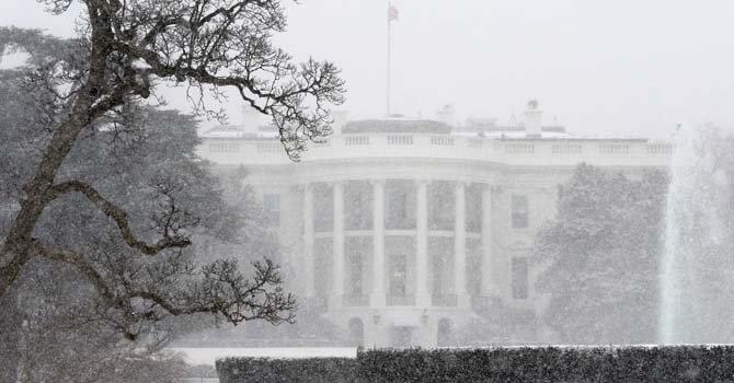 La nieve cubre el área de Washington, DC