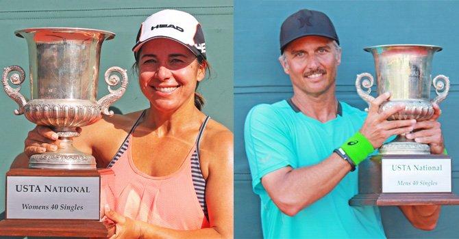 ¡Convincente victoria! de dos tenistas californianos en Campeonato Nacional en La Jolla