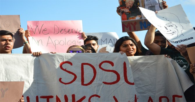 Ofreció disculpas ante presión de estudiantes, presidente de SDSU, luego de una prolongada expresión