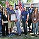 Estudiantes veteranos fuera del Centro de Recursos para Veteranos (Veteran's Resource Center de Southwestern College's Annual) durante la ceremonia del Día de los Veteranos.