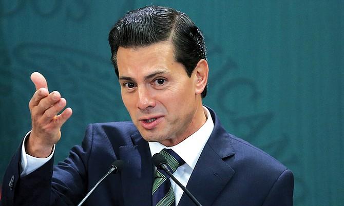 El presidente de México, Enrique Peña Nieto, instó a preservar el libre comercio con Canadá y Estados Unidos