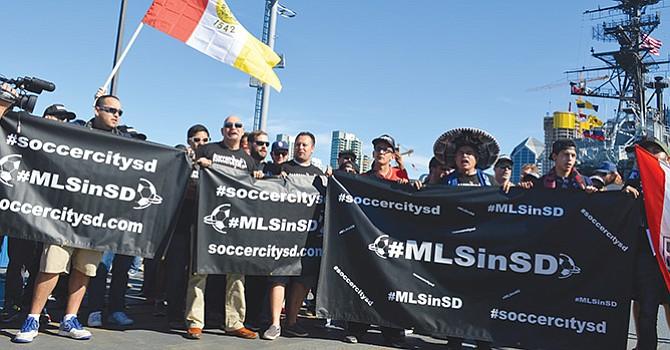 """""""Hacer de SD el Epicentro del Sóccer en EU"""" proponen inversionistas locales como meta al solicitar, a la MLS, autoricen equipo local"""