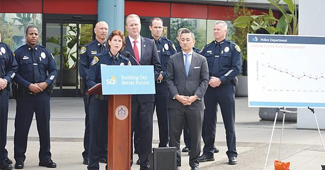 Menos delitos, afirman autoridades que la tasa de crímenes en San Diego continúa a la baja