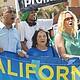 Dolores Huerta durante una manifestación de apoyo a los maestros en San Diego. Foto-Archivo: Horacio Rentería/El Latino San Diego.