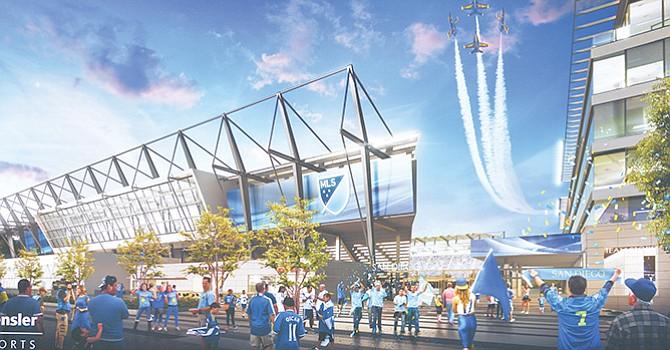 ¡Compiten por SD! empresarios locales presentan proyecto de estadio para la MSL; la NFL responde