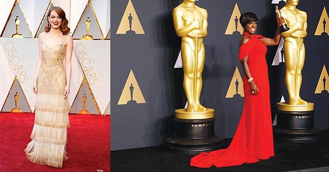 El dorado cubre la alfombra roja de los Óscar