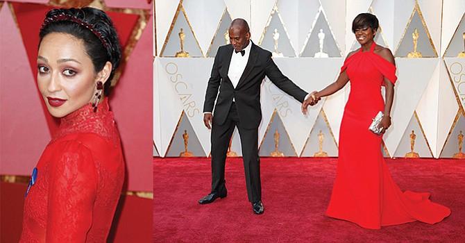 El rojo estrena la alfombra de los Óscar, dominada por el dorado