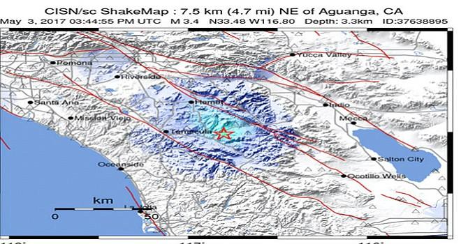 Un sismo de 3.4 se registró esta mañana con epicentro próximo al Observatorio de Palomar