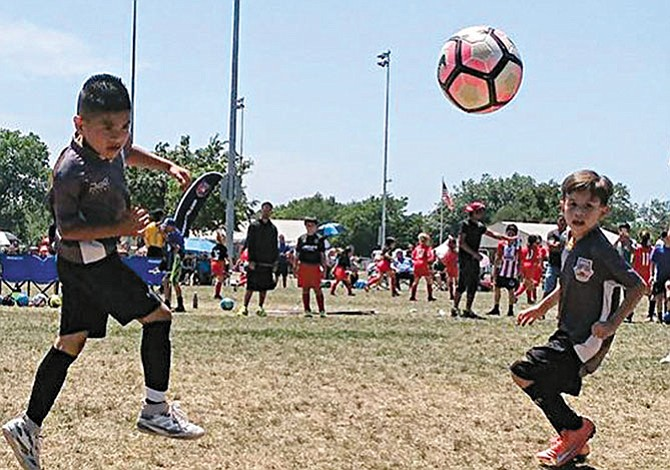 Campamento de goles  en el Centro de Texas