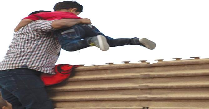 La zona de prototipos de muro es el nuevo paso para pedir asilo