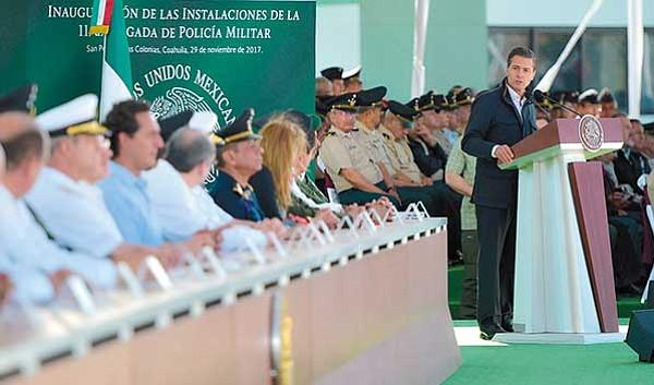 Avanza ley para que militares actúen como policías
