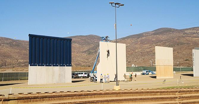 La patrulla comenzó pruebas a los prototipos de muro
