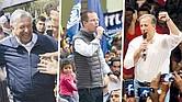 ASÍ VAN. López Obrador comenzó y terminó la precampaña como favorito en todas las encuestas, en las que Anaya se ubicó siempre en segundo lugar y Meade se vio relegado a una tercera posición.