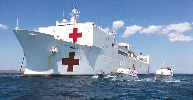 Parte el USNS Mercy, abandona su base en San Diego para realizar operaciones en el Océano Pacífico
