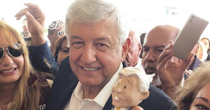 AMLO visita Tijuana, el candidato de MORENA aparece en primer lugar en las encuestas, previas a elecciones mexicanas