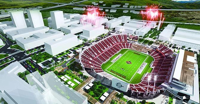 Amplían proyecto de construcción de estadio de fútbol americano, anuncia extensión de SDSU West