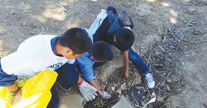 Limpian arroyo; Escondido, estudiantes de Conway Elementary; buscan proteger Cuenca Hidrográfica y Ecosistema