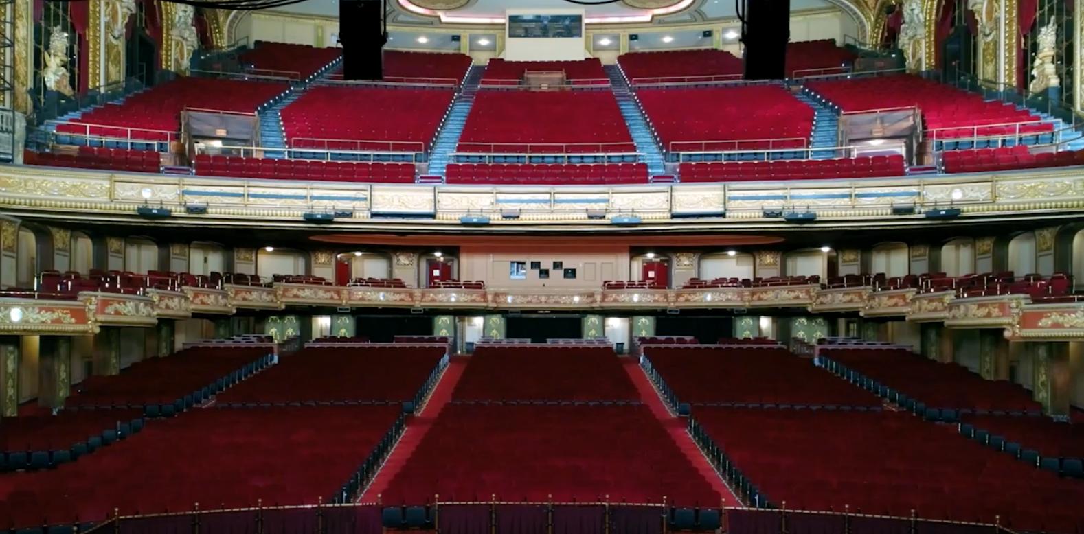 El teatro Wang ha estado cerrado desde marzo debido a la pandemia.