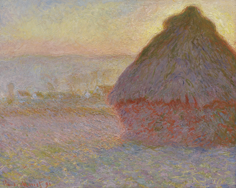 Grainstack (Sunset), 1891, Claude Monet.