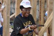 La congresista Sheila Jackson Lee estuvo presente en la brigada comunitaria