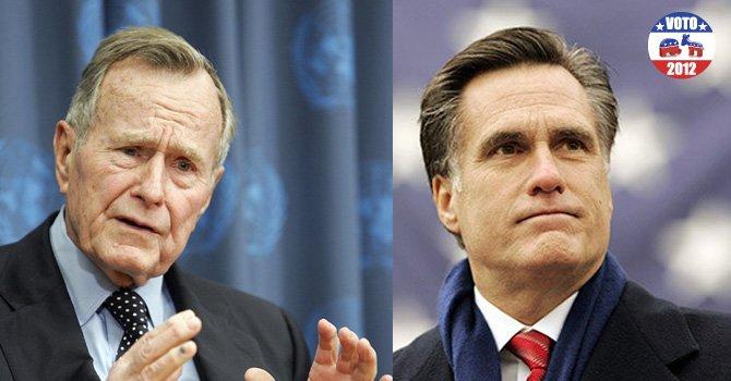Ex presidente Bush apoya a Mitt Romney