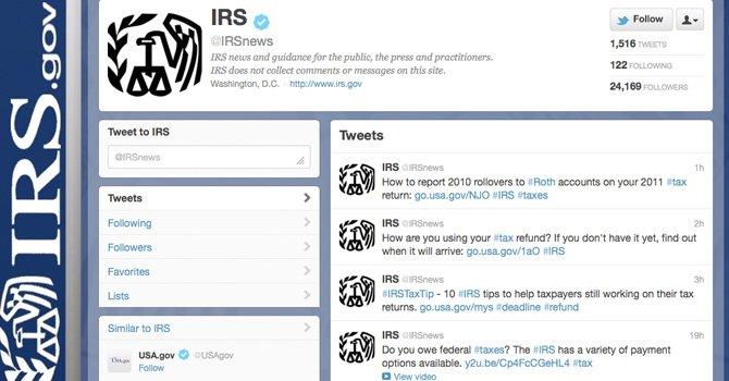 IRS informa a los contribuyentes a través de redes sociales