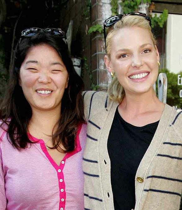 Katherine Heigl y su hermana mayor Meg