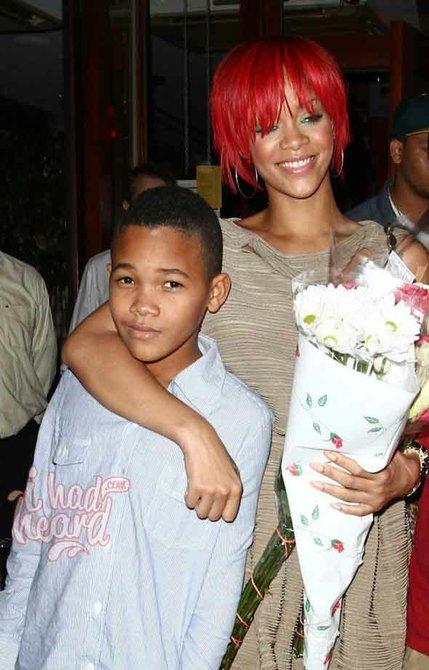 Rihanna y su hermano menor Rajad Fenty