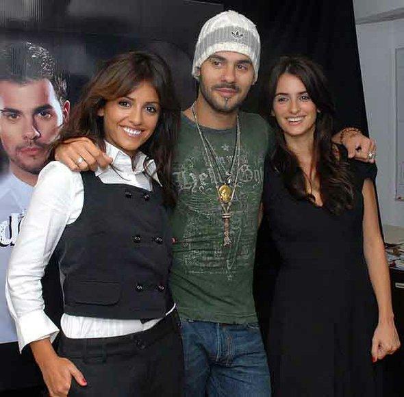 Mónica, Eduardo y Pénélope Cruz