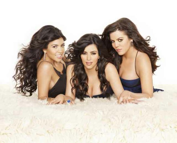 Las hermanas estadounidenses Kourtney, Kim y Khloe Kardashian