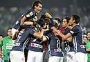 Jugadores del Monterrey celebran después de ganar la Liga de Campeones de la Concacaf el pasado 25 de abril de 2012