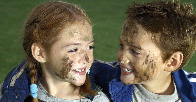 Niños sucios, más sanos y felices