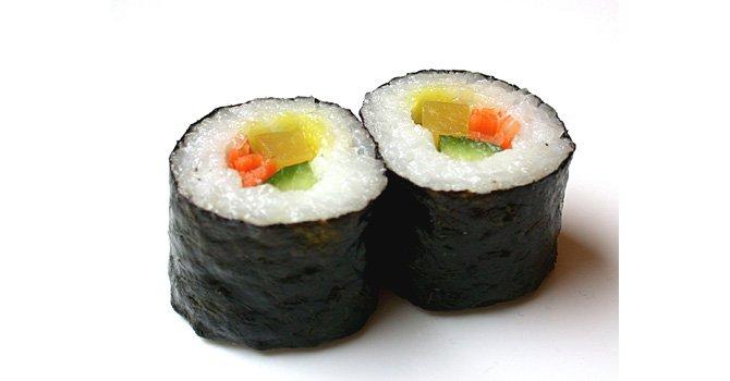 Rollitos con vegetales estilo sushi