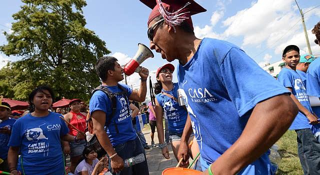 Dreamers en Silver Spring, MD, el 5 de agosto. Piden que los ciudadanos voten a favor del DREAM Act estatal