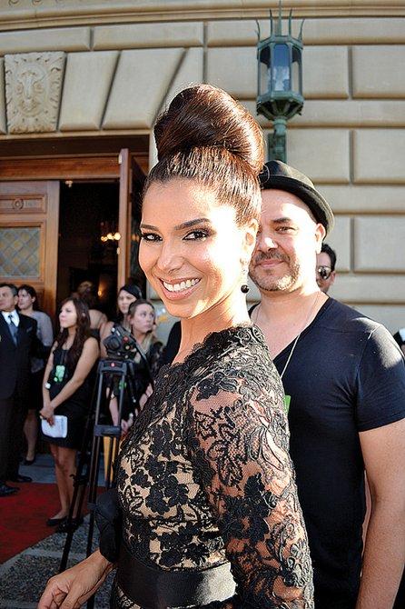 CANTANTE. La puertorriqueña Roselyn Sánchez        estuvo a cargo de la nota músical de la noche.