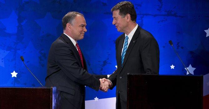 Tim Kaine y George Allen en batalla por Virginia