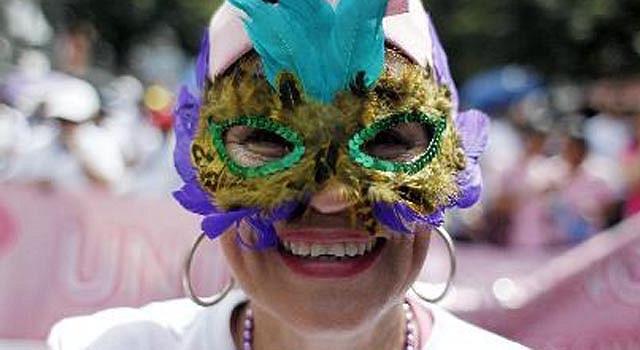 Centenares marcharon el 20 de octubre en Tegucigalpa para concientizar a las mujeres sobre la prevención.