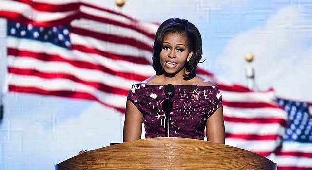 La primera dama Michelle Obama, durante la convención del partido Demócrata, celebrada en Charlotte, Carolina del Norte.