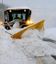 Sandy se cruzó con un frente frío en el oeste de Maryland, provocando una tormenta de nieve.