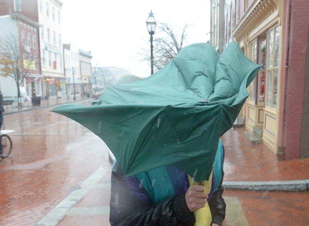 Los vientos traidos por Sandy se dejaron sentir desde el lunes 29 de octubre en Annapolis, Md. TWP