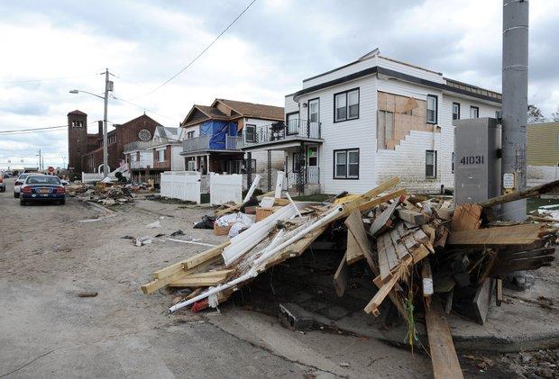 Destrucción en Long Beach, Nueva York. AP