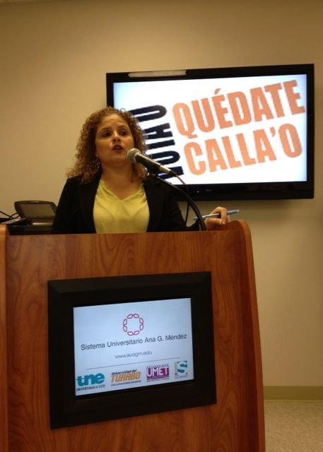 Syndia Nazario, directora del campus de Wheaton, Maryland, de la Universidad Ana G. Méndez, el sábado 3 de noviembre.